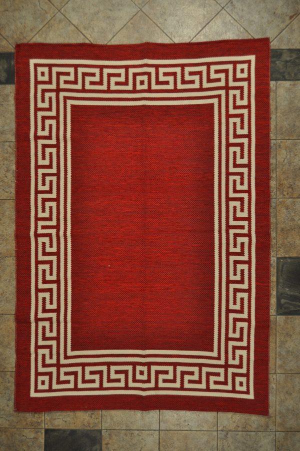 jarapa de doble cara color roja teja 135-200cm