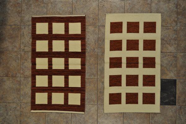 jarapa de doble cara 0,70-120 cuadros marrón