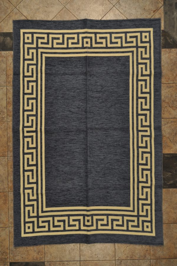 jarapa de doble cara greca color azul 135-200cm