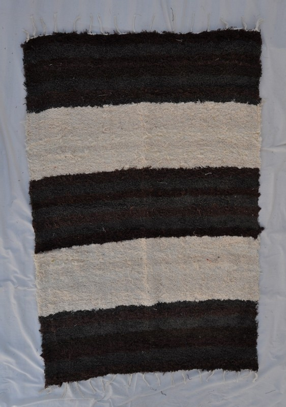 jarapa pelo largo 140-200cm andina marrón chocolate