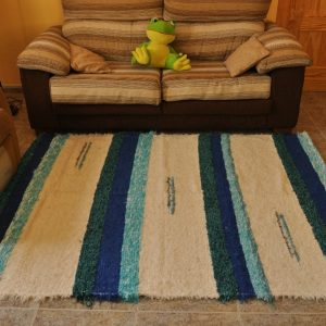 Azul y crudo 140-200cm