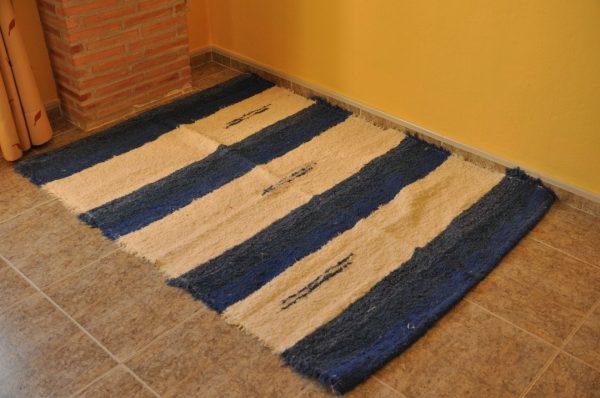 Azul y crudo 120-160cm