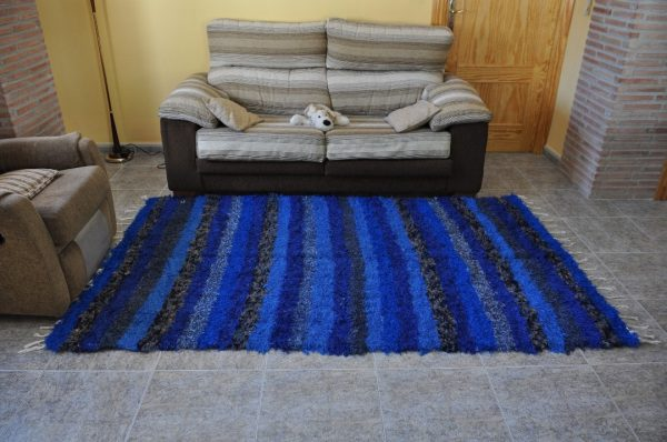 Jarapa azul pelo largo 140-200cm