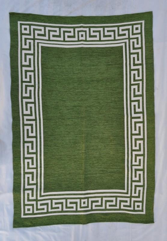 jarapa doble cara greca verde 150-230cm