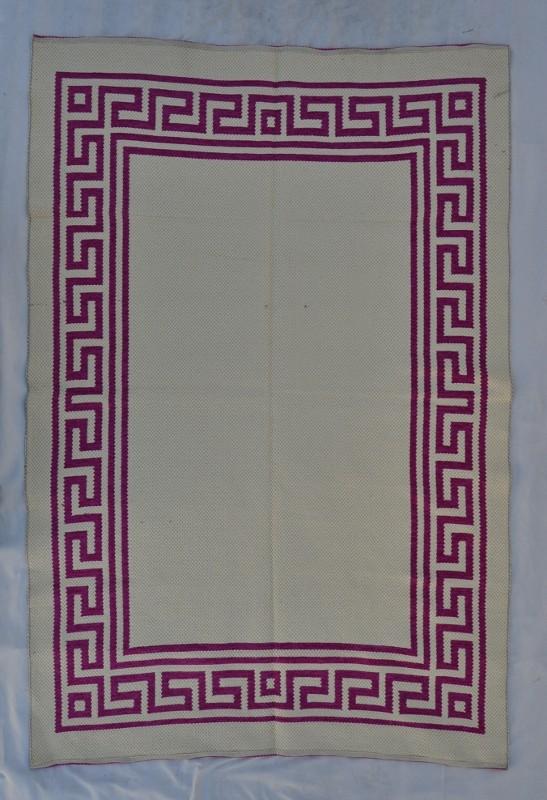jarapa doble cara greca magenta 150-230cm