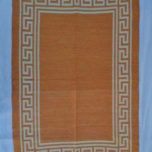 jarapa doble cara greca naranja 135-200cm
