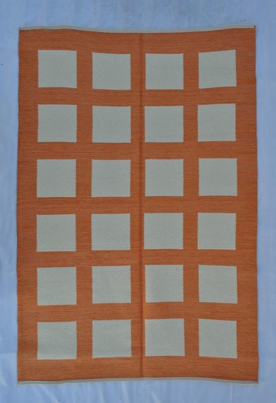 jarapa doble cara cuadros naranja 135-200cm