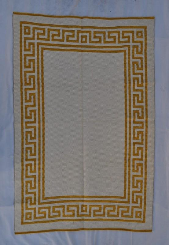 jarapa doble cara greca mostaza 135-200cm
