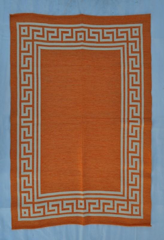 jarapa doble cara greca naranja 150-230cm