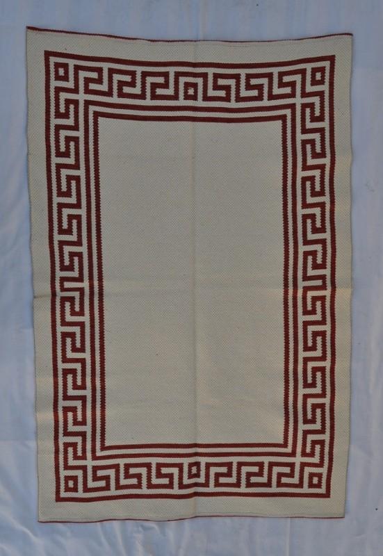 jarapa doble cara greca marrón claro 135-200cm