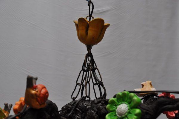 Lampara techo 5 tulipas