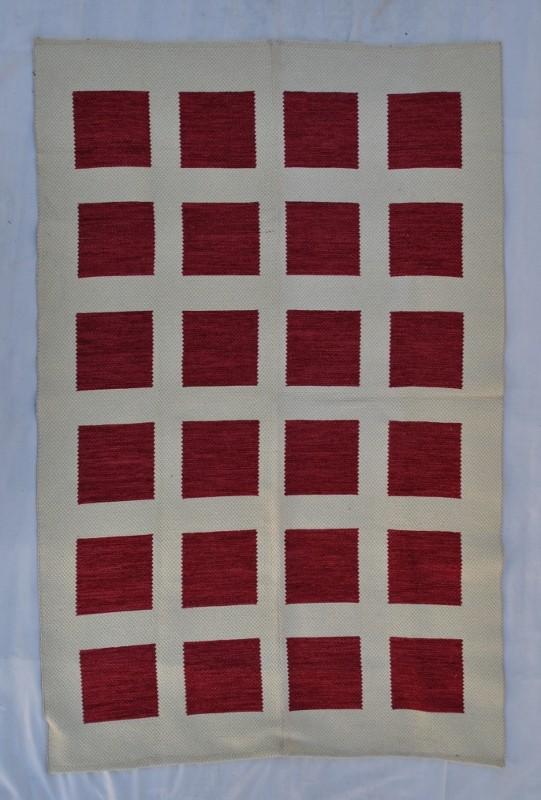jarapa doble cara cuadros teja suave 135-200cm