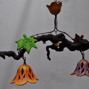 Lampara de techo 2 tulipas fijas