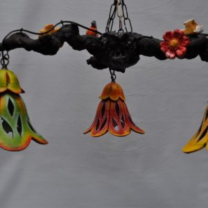 Lampara de techo tres tulipas
