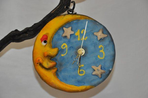 Tronco de Vid con Bruja y Reloj