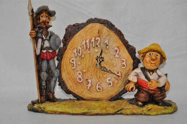 Reloj de Don Quijote y Sancho Panza
