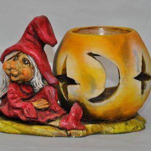Esenciero de bruja con globo