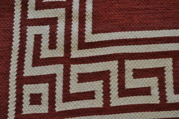 Greca rojo bermellón 150-230 cm