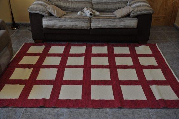 Cuadros rojo carmesí 150-230cm