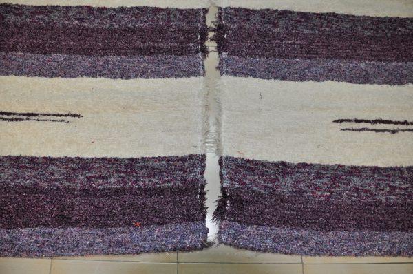 Pie de cama andina morada 70-120cm
