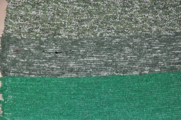 Pie de cama verdes grises 70-120cm