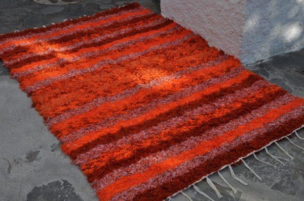 Jarapa naranja de pelo largo 140-200cm
