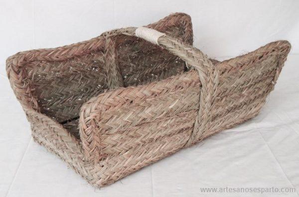 Leñera rectangular armazón de forja