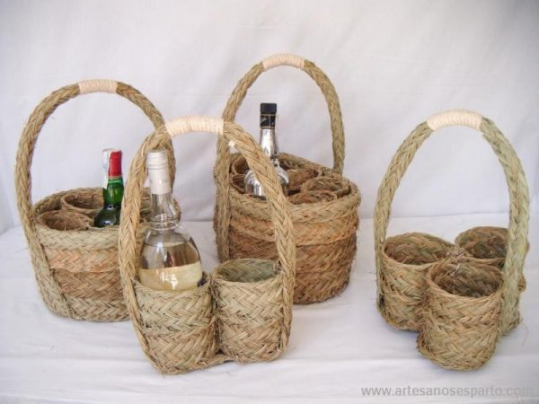 Cesta botellero 3 botellas
