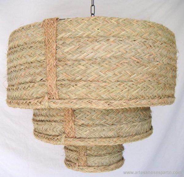 Lámpara redonda triple