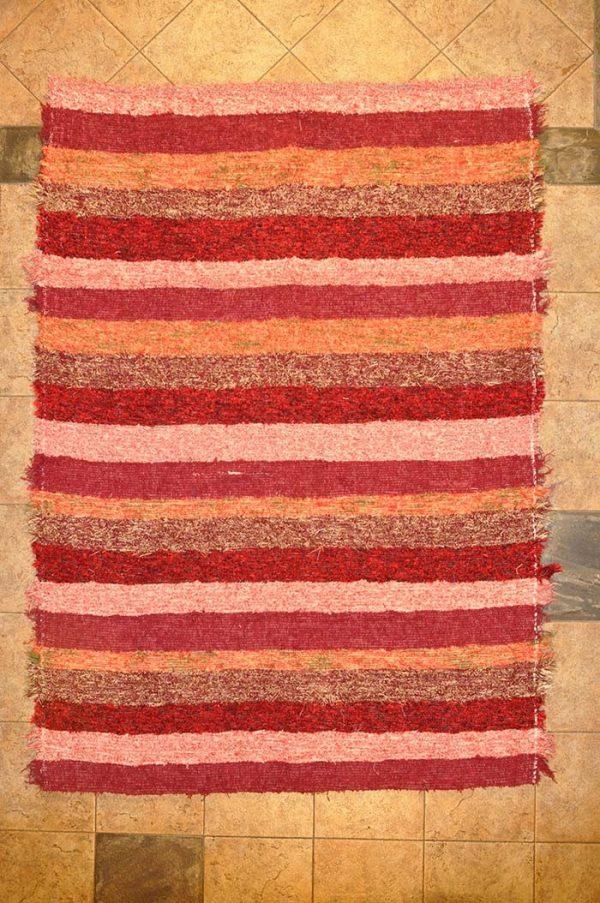jarapa de pelo corto 120-160 color rojo teja