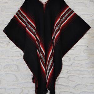 Poncho Alpujarreño negro y rojo