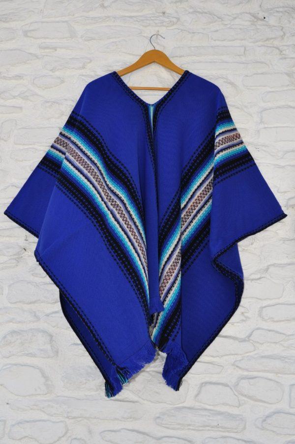 Poncho Alpujarreño azul
