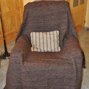 Cubre sillón marrón